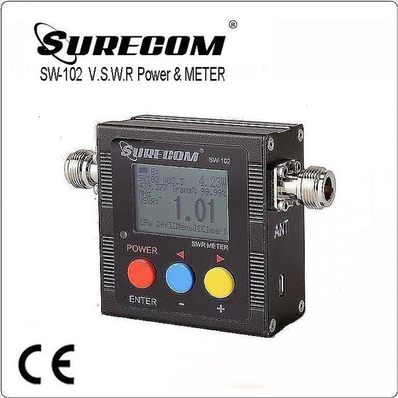 SURECOM SW-102 SW102 vswr 125-520 MHz mètre avec compteur de fréquence et compteur de puissance 409 produit de magasin