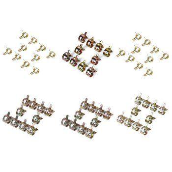 60 x printemps collier de serrage De Carburant tuyau tuyau D'air pince de Fixation (7mm, 10mm, 11mm, 14mm, 16mm, 17mm)