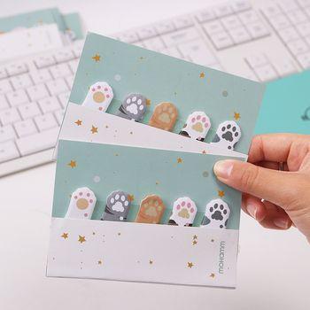 1PC Cute Cartoon 5 Colors Mini Animals Cat Paw Memo Pad Sticky Notes Memo Notebook Stationery Papelaria Escolar School Supplies