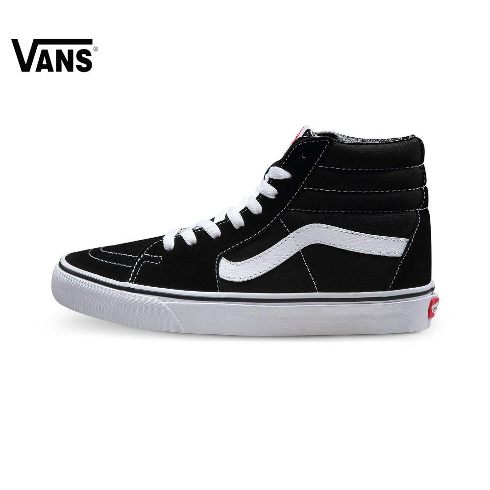 Original Vans Classic men's & women's High help canvas shoes Skateboarding Shoes old skool Sports Vintage Shoes SK8-Hi Sneakers