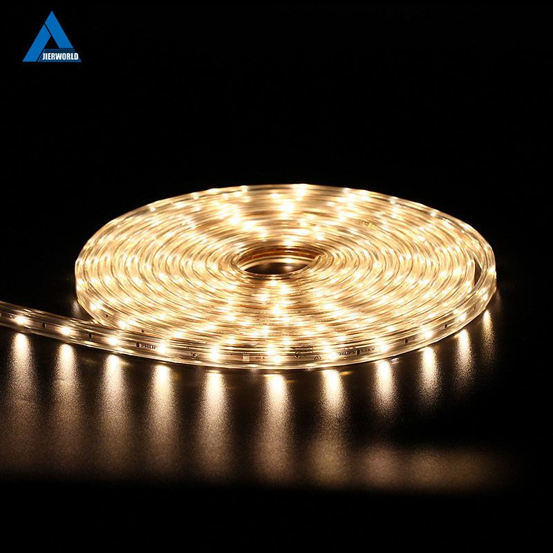 220 V Bande Bande Étanche Haute Sécurité Haute Luminosité SMD 5050 LED Bande Bande De Lumière Blanc LED Bande Décorative LED lumières