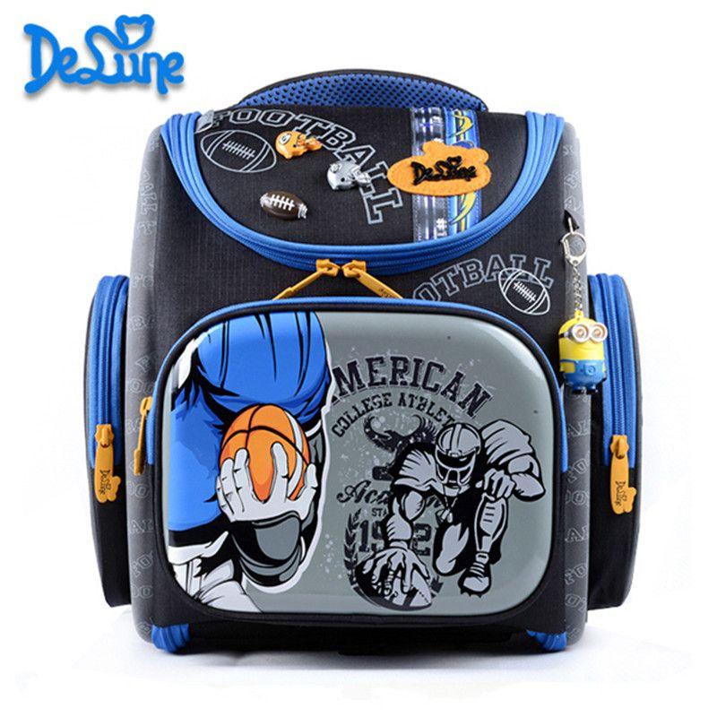 Delune Orthopädische Design Schultasche für Kinder Rucksack Qualität SUV Schultasche für Jungen Camo Grundschule Grade 1-3 Mochila
