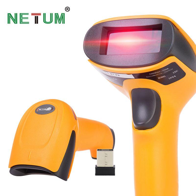 Sans fil Laser Barcode Scanner Longue Portée Sans Fil Bar Code Reader pour POS et Inventaire-NT-2028
