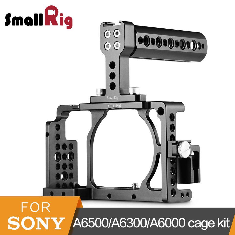 SmallRig a6500 Käfig + Top Griff + HDMI Clamp Kit Für Sony A6300/A6000/A6500/NEX7 Kamera käfig DSLR Käfig Montieren Rig-1921