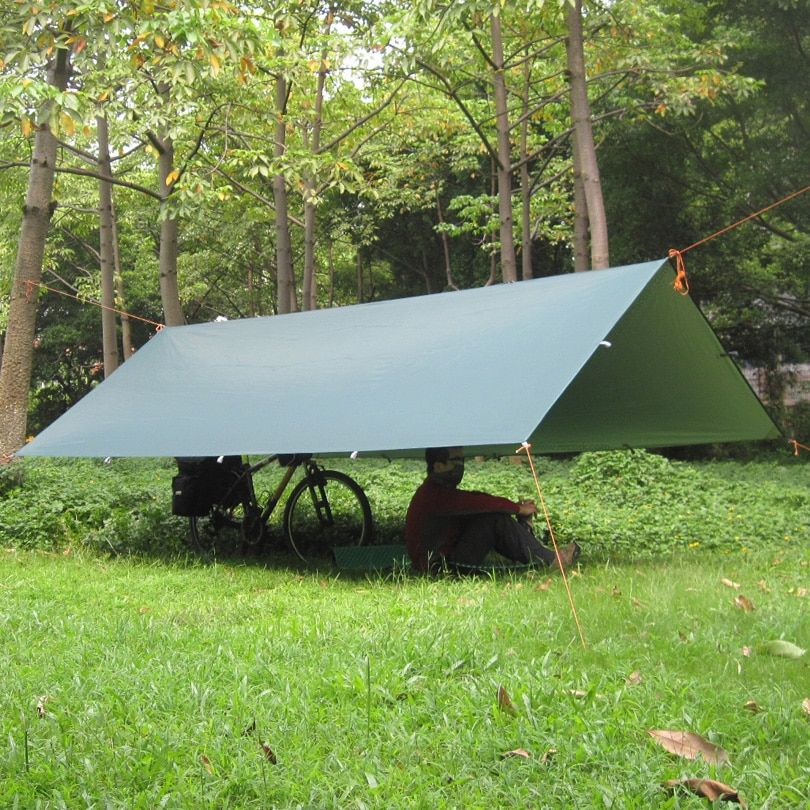 3F UL Silver Coating Anti UV Ultralight Sun Shelter Beach Tent Pergola Awning Canopy 210T Taffeta Tarp Camping 18Hanging Points