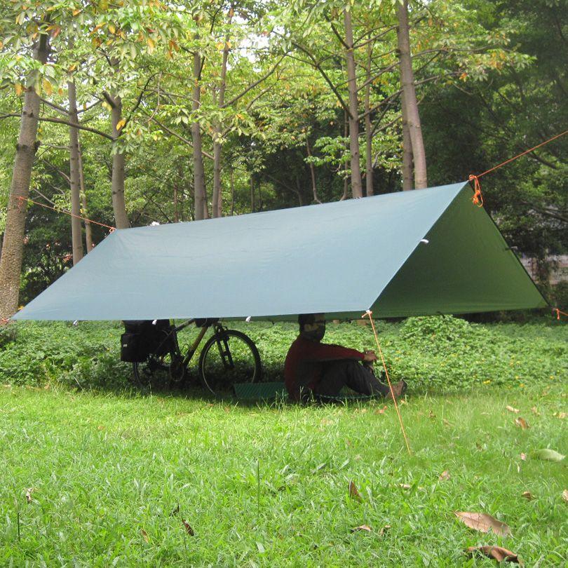 3F UL Silver Coating Anti UV Ultralight Sun <font><b>Shelter</b></font> Beach Tent Pergola Awning Canopy 210T Taffeta Tarp Camping 18Hanging Points