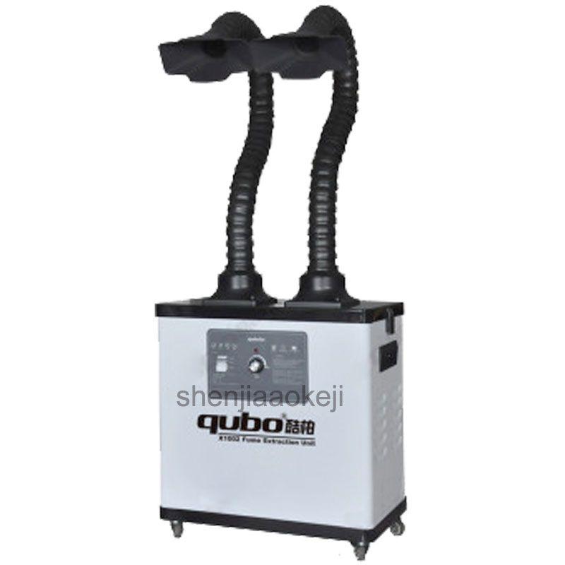Löten Rauch Reiniger Rauch und staub reiniger zwei köpfe Rauch purifier Fume Extractor Luft Reiniger Filter 220 v/110 v 200 watt 1 stück