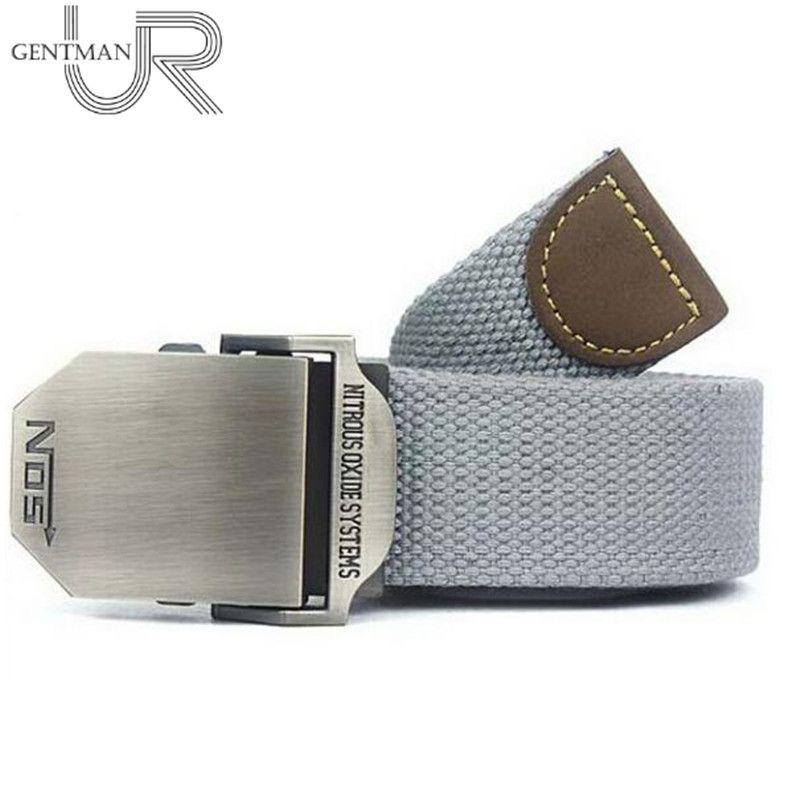 Hot NOS Men Canvas Belt Military Equipment Cinturon Western Strap Men's Belts Luxury For Men Tactical Brand Cintos