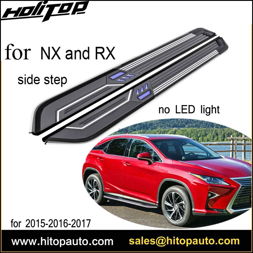 New arrival NX NX200T NX300h RX RX200T RX350 running board side step bar,with LED light,top quality,with ISO9001 Certificate