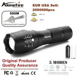 Kuat G700 Senter Cree XML T6 U3 LED Aluminium Tahan Air Zoom Camping Torch Taktis Cahaya AAA 18650 Baterai Isi Ulang