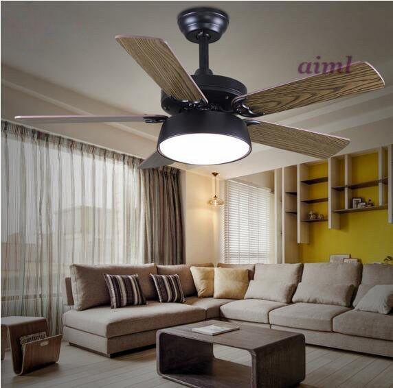 American fan droplight natural wind restoring ancient ways LED fan lights sitting room bedroom fan lights