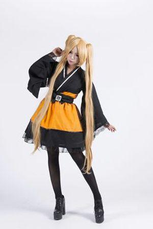 Livraison gratuite Naruto Shippuden Uzumaki Naruto femme Lolita Kimono robe Anime Cosplay Costume/Cosplay perruque