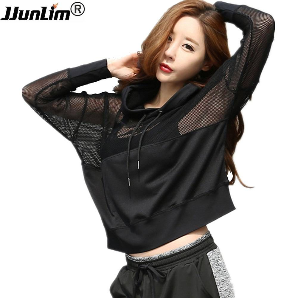 Fitness Sportswear Women Sport Suit Yoga Top Quick-Dry Long Sleeve Running Shirt Female T-shirt Workout Gym Hooded Sport Jacket