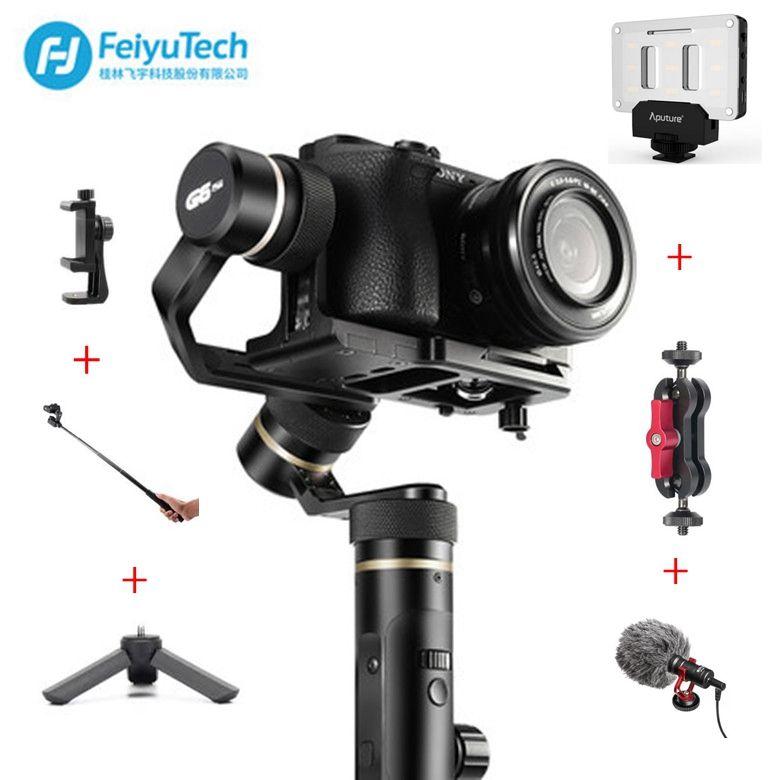 FeiyuTech Feiyu G6 Plus Splashproof Handheld Gimbal Stabilizer for Smartphone Gopro hero Mirrorless cameras sony as6000 black