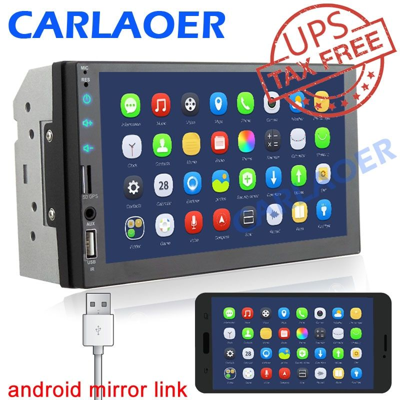 2 Din Car radio 7 HD Player <font><b>2Din</b></font> Touch Screen Car Video Multimedia Players Audio Stereo Mirror Link for carplay Android phone