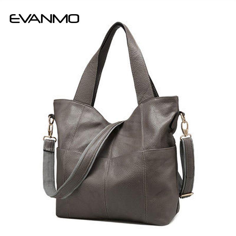 American Real Patchwork Soft Female Bag 2018 New Tide Genuine Leather Women Single Shoulder Hand Designer Handbags High Quality