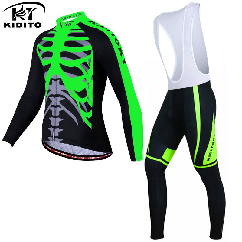 KIDITOKT Winter Thermal Fleece Cycling Jersey Set Racing Bike Clothes Ropa Ciclismo Invierno MTB Bicycle Clothing Cycling Set