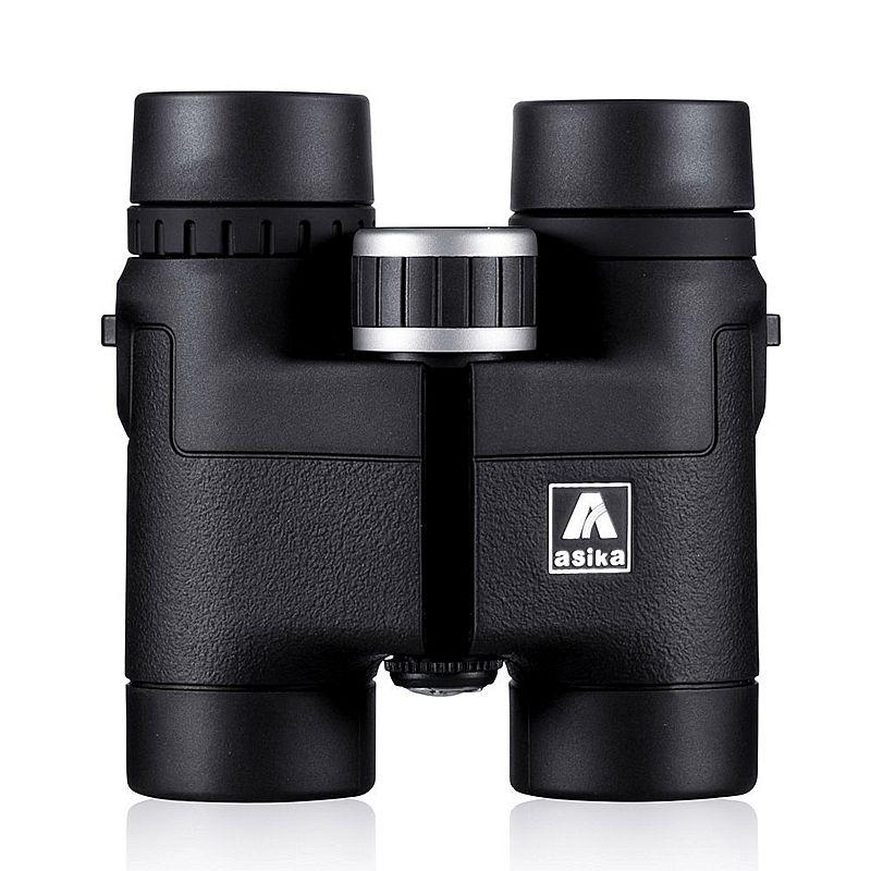 Asika 8x32 Compact Ferngläser für Vogelbeobachtung HD Militärischen Teleskop für Jagd und Reise mit gurt Hohe Klar Vision Schwarz