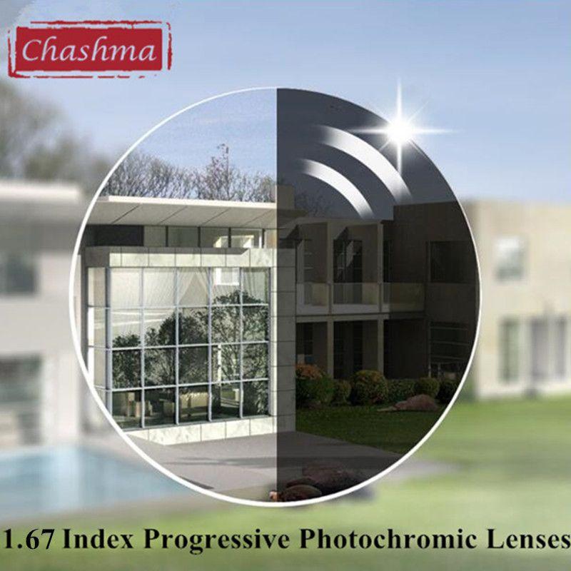 Chashma Marke Dünnste Verifocal Übergang 1,67 Index Innen Multifocal Wilden Feld Linsen Photochrome Gleitsichtgläser