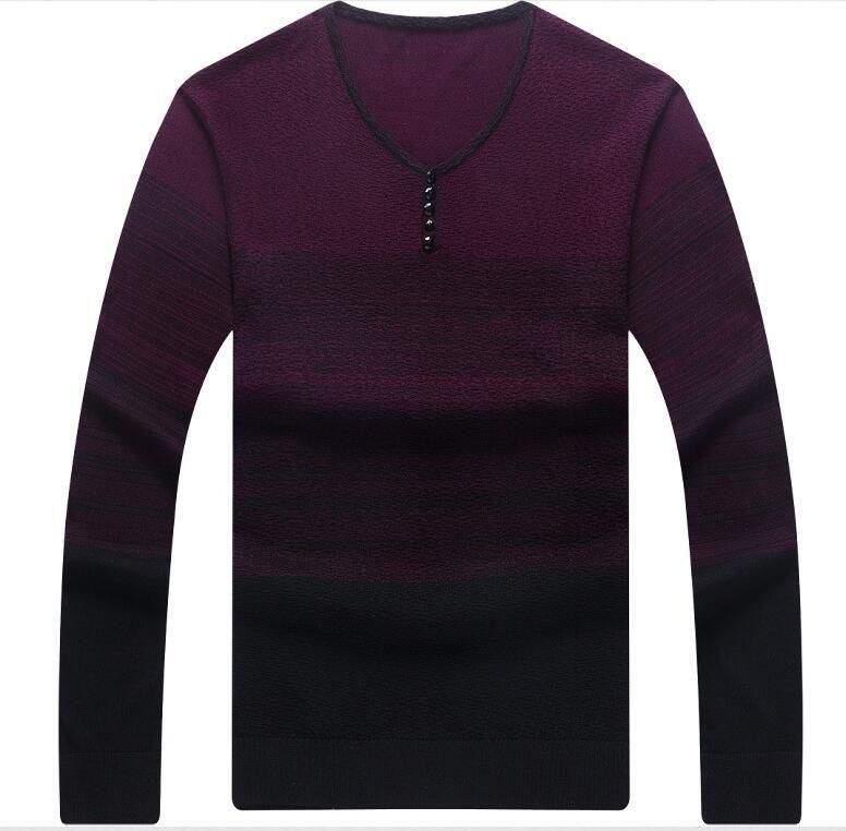 2018 frühling Sommer streifen Langarm Männer Baumwolle T-Shirt NN01-NN05