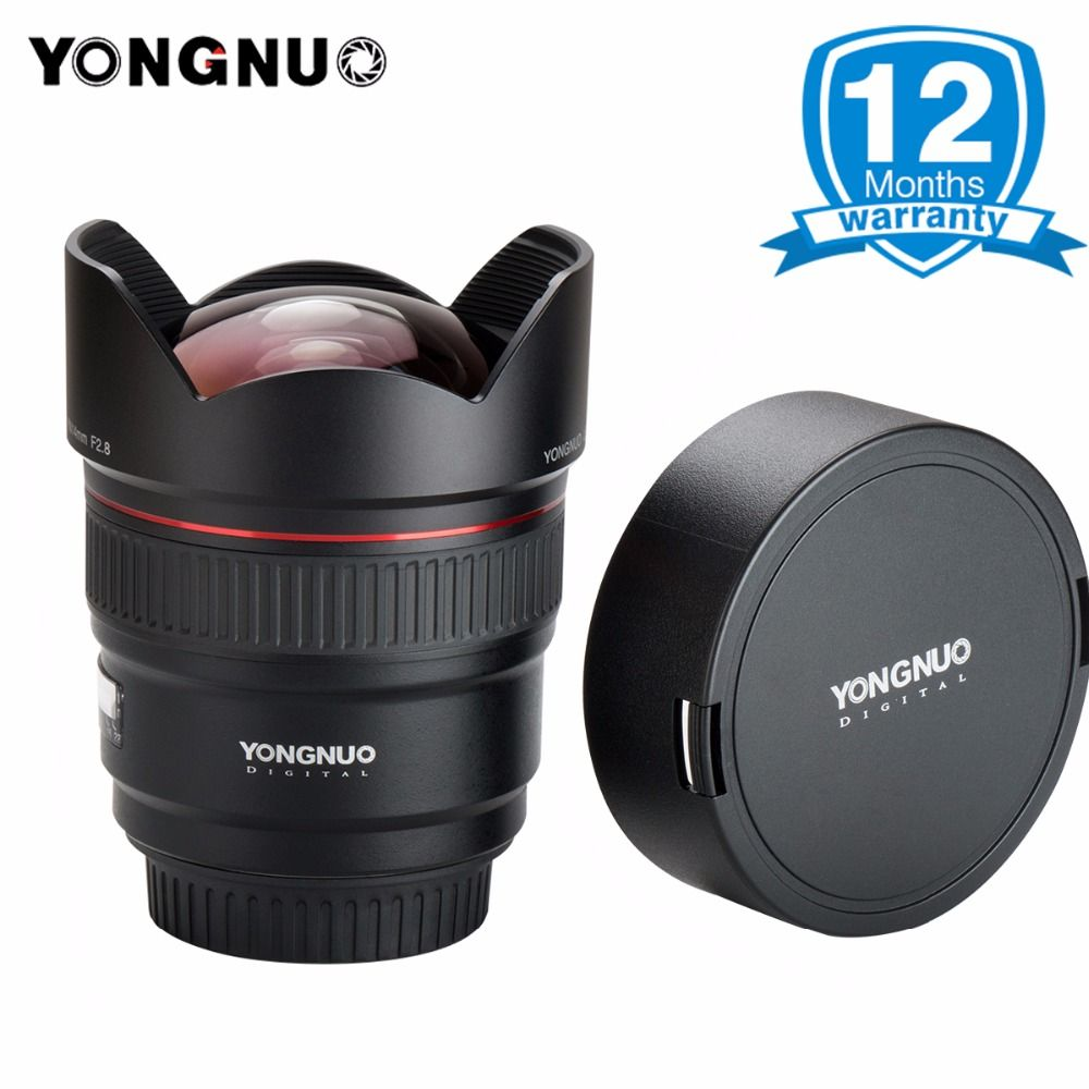 YONGNUO 14mm F2.8 Ultra-wide Angle Prime Lens YN14mm Auto Focus AF MF Metal Mount Lens for Canon 700D 80D 5D Mark III IV