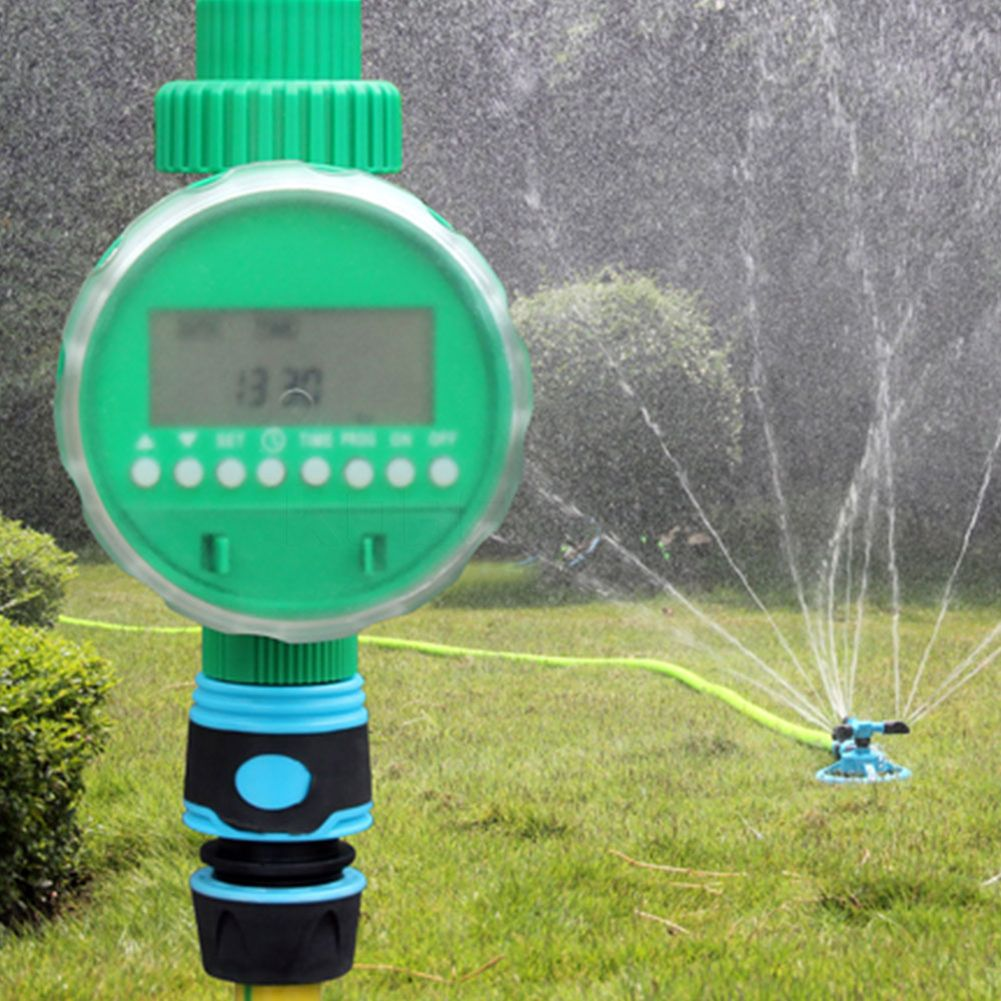 Automatic Electronic LCD Display Home Water Timer Garden Watering Timer Irrigation Controller System