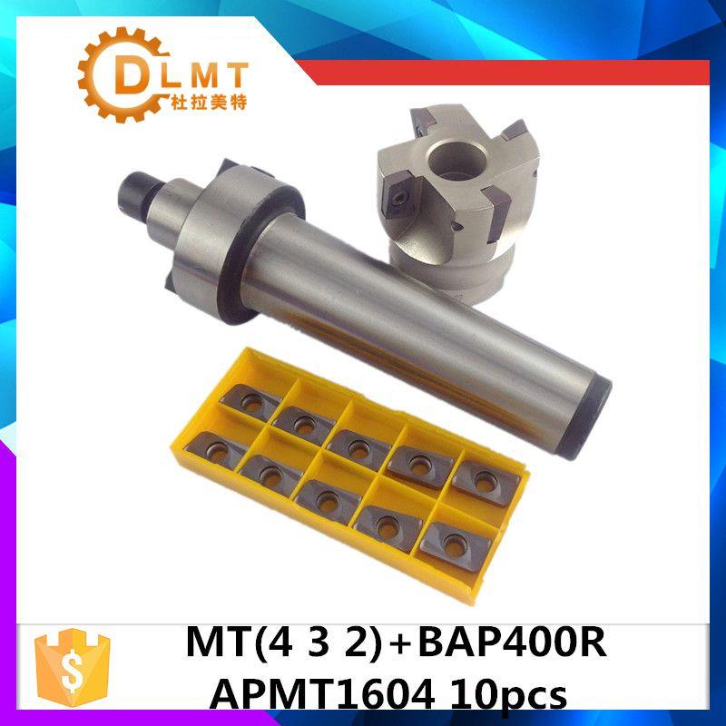 MT2 FMB22 M10 MT3 FMB22 M12 MT4 FMB22 Shank BAP400R 50 22 Face Milling CNC Cutter + 10pcs APMT1604 Inserts For Power Tool