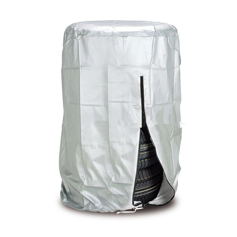 Car Tire Cover 4 wheels Spare Tire Covers Silver Tyre Accessories For Winter Summer Polyester Tires Protector Storag Bags