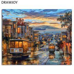 Европа картина без рамы, пейзаж картины DIY живопись по номерам настенная художественная акриловая живопись на холсте и роспись домашний дек...