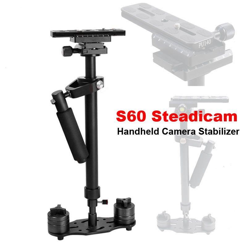 Professional S60 60cm Video Stabilizer Handheld DSLR Camera Steadicam Steady for Camera Video DV DSLR Nikon Canon Sony Panasonic