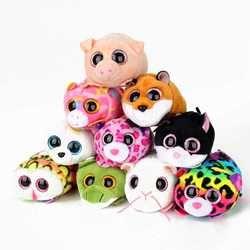 10CM Mini Original Ty Plush Toys Beanie Boos Big Eyes fox unicorn Pocket TSUM Candy pig Stuffed  Doll Pink Owl TY Baby Kids Gift