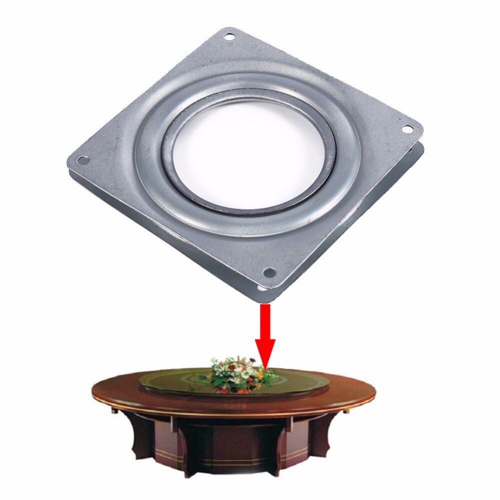 TOPINCN Square Rotating Swivel Plate Lazy Susan Turntable Bearing Rotating Swivel Plate For Kitchen Cabinets Tabe Swivel Plate