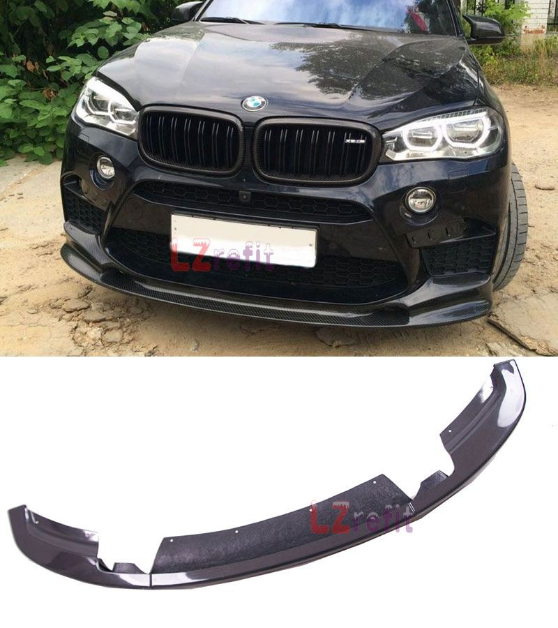 Real Carbon Fiber Front Lip Spoiler Auto Body For BMW F86 X6M F85 X5M 2015UP