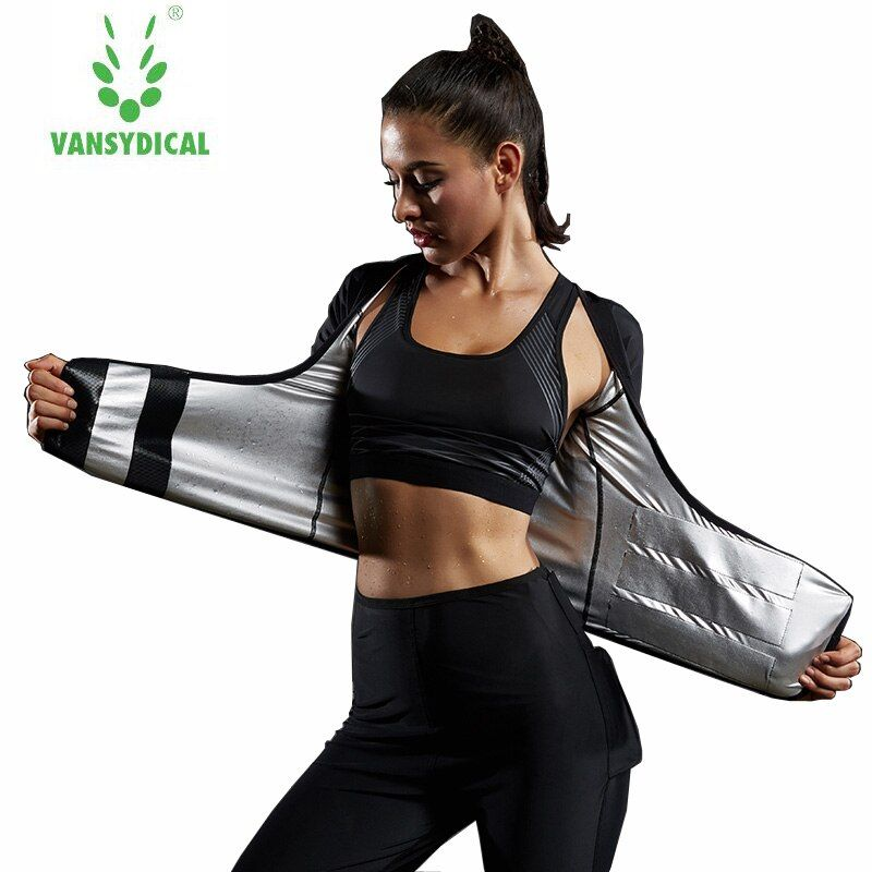 Vansydical  Women Running Suit Thin Waist Sweating Gym Clothing Shockproof Sports Bra Fitness Tights Compression Shirt 3pcs set