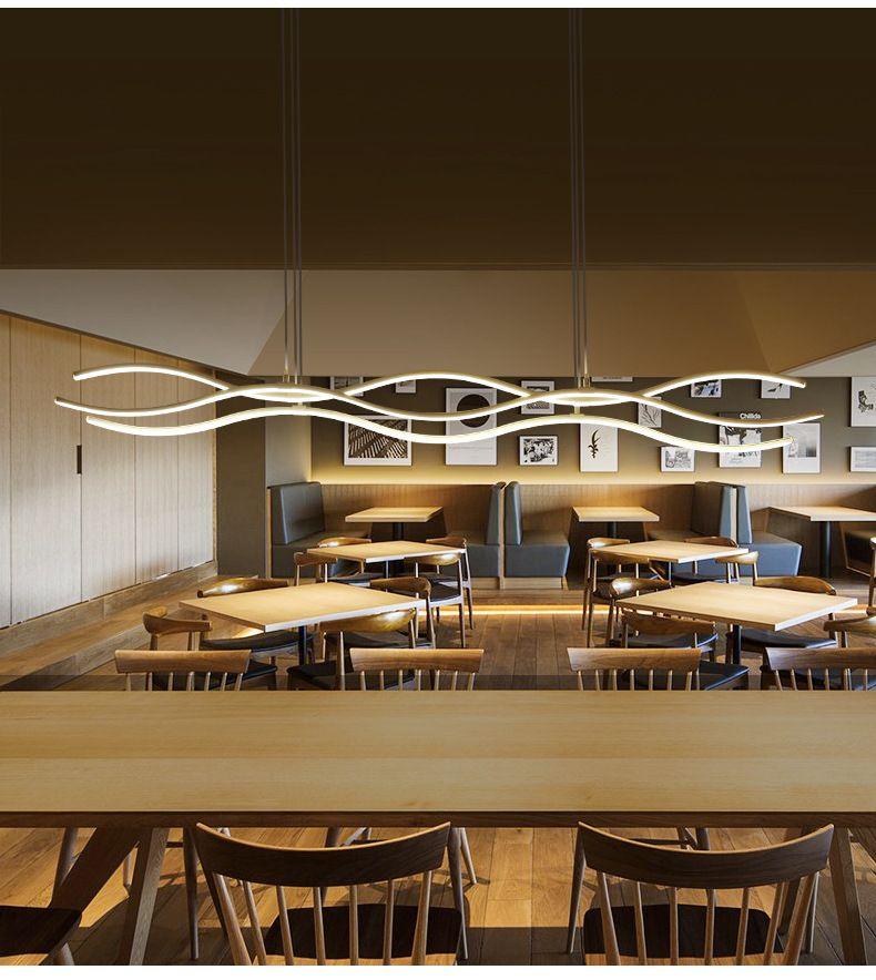 Welle Moderne LED Pendelleuchte Dimmbare Acryl Aluminium Suspension Leuchte Hängen deckenleuchte