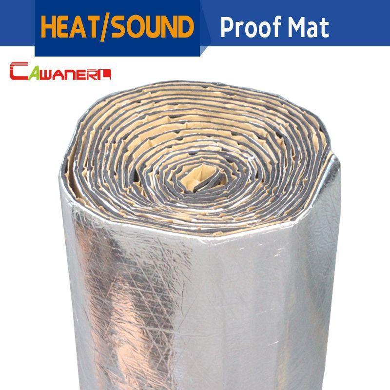 Cawanerl 1 Rolle 1000 cm x 100 cm Auto Lkw Wärme Sound Isolierung Matte Pad Noise Control Deadener Aluminiumfolie trittschalldämmung