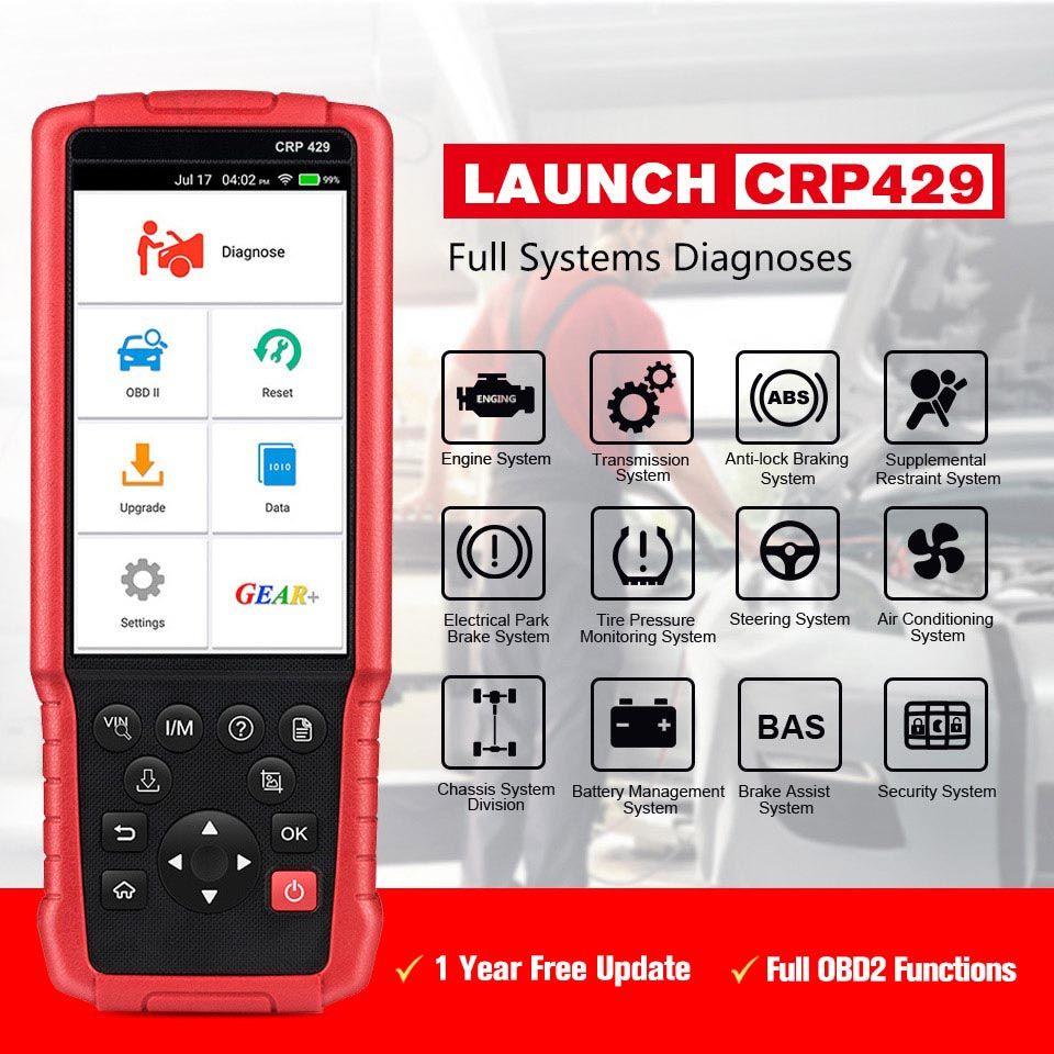 Starten CRP429 Auto Diagnose Werkzeug Auto Scanner Alle System Diagnose Scan Automotive Diagnose IMMO DPF EPB PK MK808 CRP429C