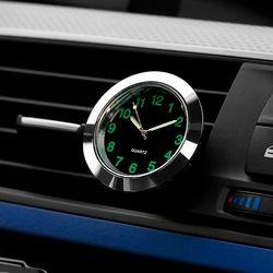 Automobile Quartz Clock Car Decoration Watch Ornaments Vehicle Auto Interior Watch Digital Pointer Air Conditioning Outlet Clip