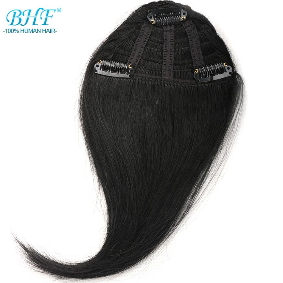 BHF Human Hair Bangs 8inch to 12inch long Remy Clip In Hair Fringe 100% Natural Hair