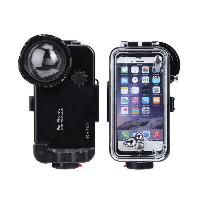 ALLOET Underwater 60m/197FT Diving Shooting Lens Case Cover For iPhone 8 Phone IPX8 Waterproof Explosion-proof Cases For iPhone8