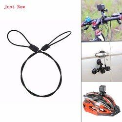 10PCS Stainless Steel Black Safety 60cm/24in Tether Lanyard Strap for GoPro Hero 5/4/3+/3/for SJCAM/for YI for Action Camera
