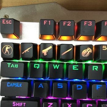 SIANCS DIY CS GO Gaming keycaps Key Button CSGO key caps game keycap Game Accessories Mercy ABS Cap for Mechanical keyboard