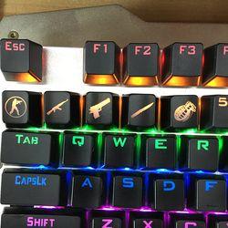Siancs DIY Cs Pergi Keycap Gaming Kunci Tombol CSGO Kunci Caps Permainan Tombol Aksesoris Game Rahmat ABS Cap untuk Mekanik keyboard