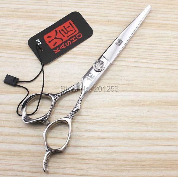 6.0 Pouces Japon Kasho Ciseaux De Coupe Professionnel De Coiffure Ciseaux Japon 440C Barbiers Cheveux Cisailles Coupe De Cheveux Rasoirs LZS0145