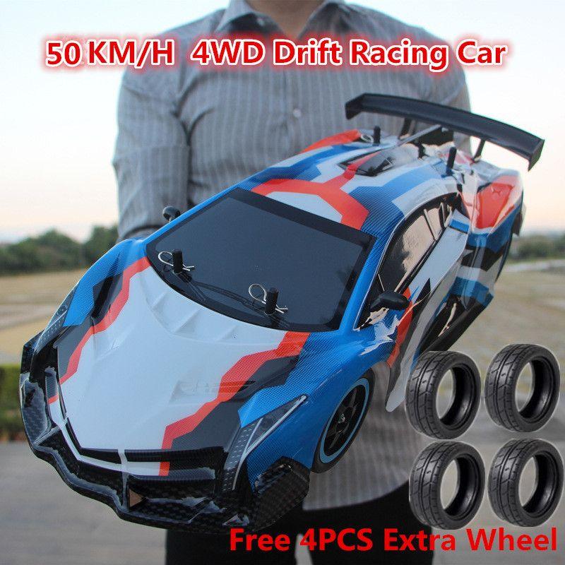 2019 1:10 volle Skala Große Stunt Racing Drift RC Auto Kinder Spielzeug 4WD14 2,4G 4WD Fahren 50 KM/H RC auto Fernbedienung Auto Junge Spielzeug