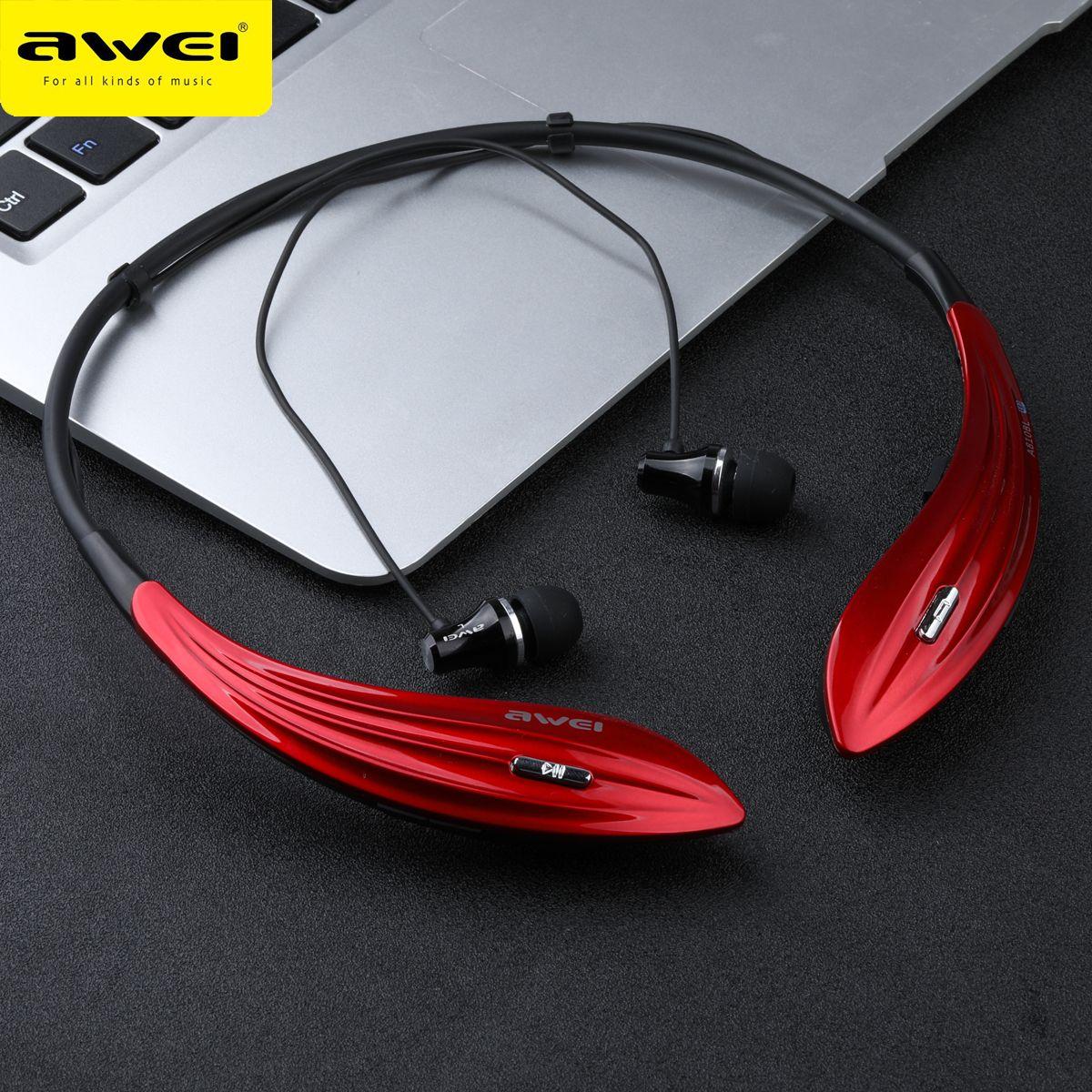 AWEI A810BL Bluetooth Écouteurs Sans Fil Casque Super Bass Sport Neckband Casque Audifonos kulakl k Bluetooth V4.1 Casque