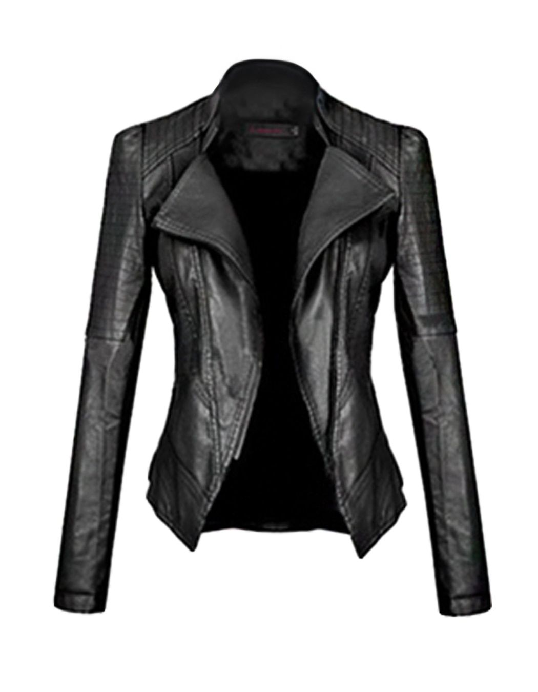 FANALA Faux Leather Jacket Women 2017 Motorcycle Autumn Winter Outerwear Coats Short Zipper Long Sleeve Slim Fitted Jackets