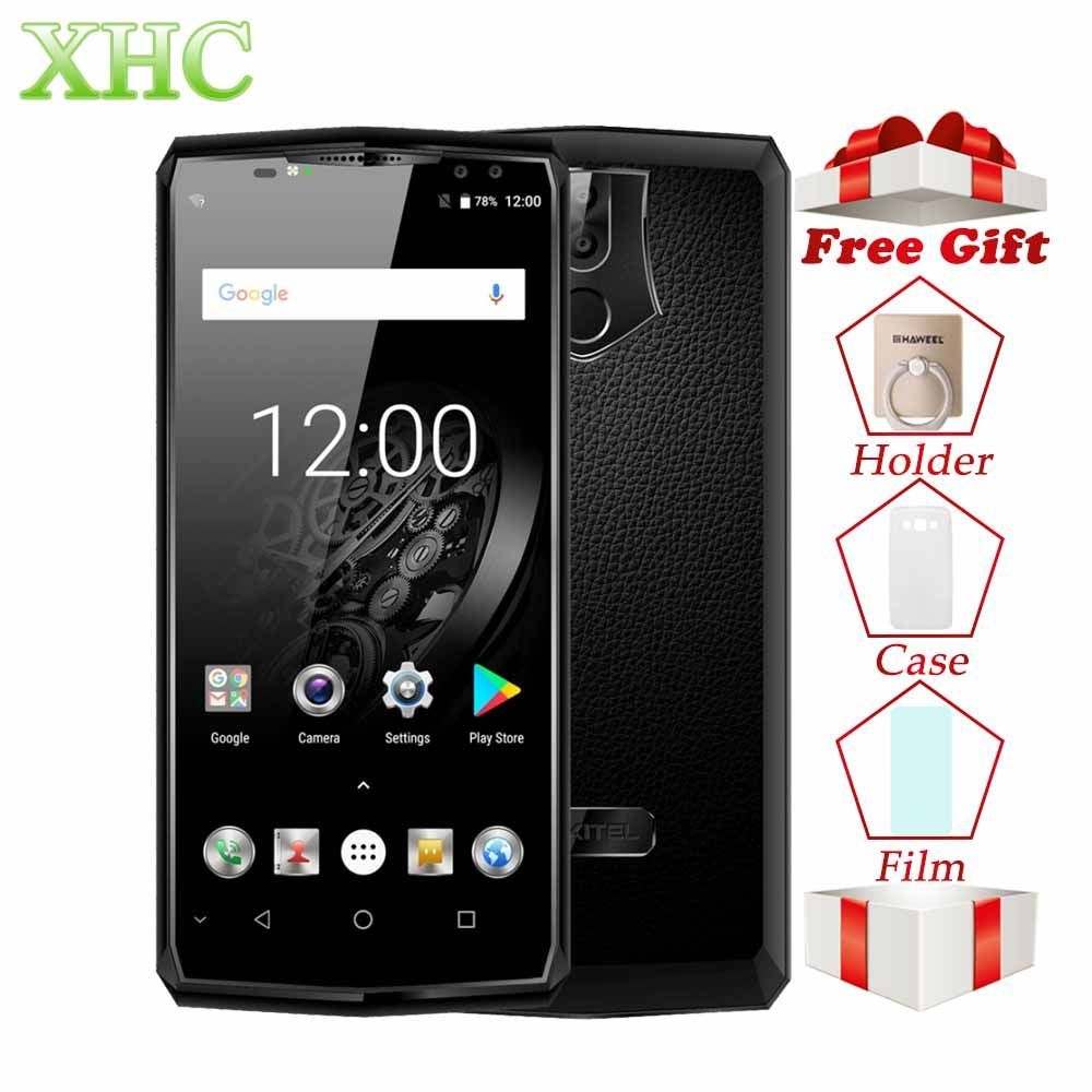 Oukitel K10 6.0 Inch 6GB RAM 64GB ROM Smartphones 11000mAh Android 7.0 Helio P23 Octa Core 16MP+8MP Face ID 4G LTE Mobile Phones