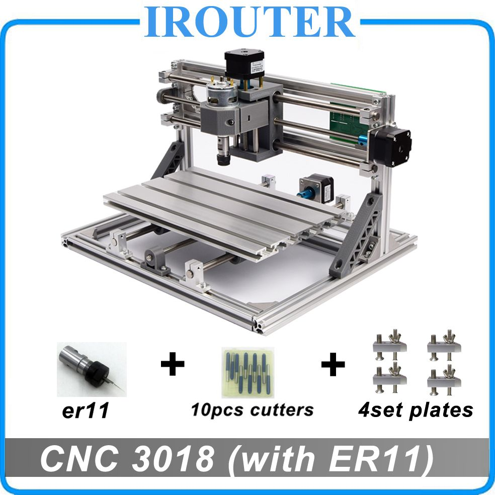 CNC3018 withER11,diy mini cnc engraving machine,laser engraving,Pcb PVC Milling Machine,wood router,cnc 3018,best Advanced toys