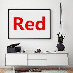 Red Canvas Printed Painting Home Decor Framework